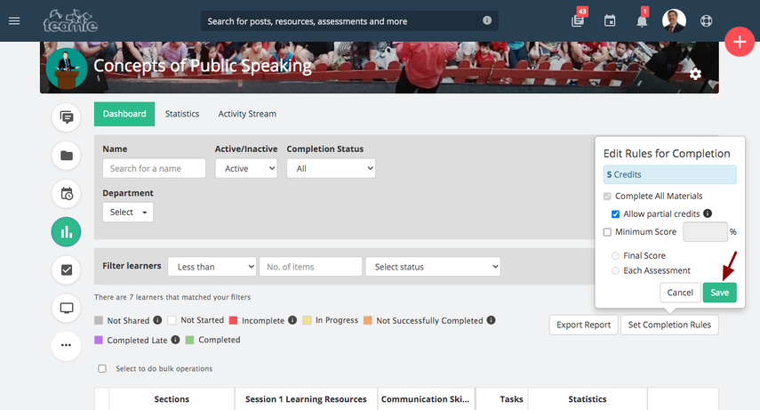 (1) Learner Progress | Concepts of Public Speaking | Training Demo