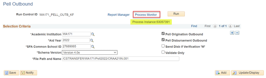 Process Monitor annotated on COD out page