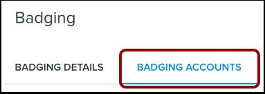 Open Badge Accounts