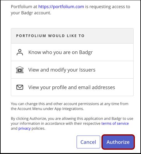 Authorize Integration