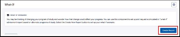 Create Report button