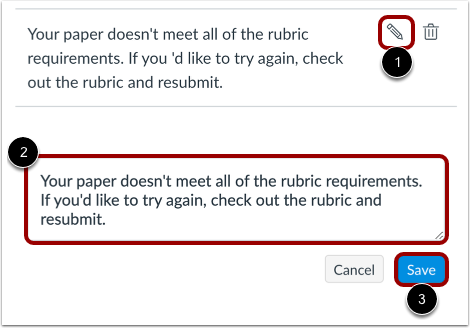 Edit Comment in Library