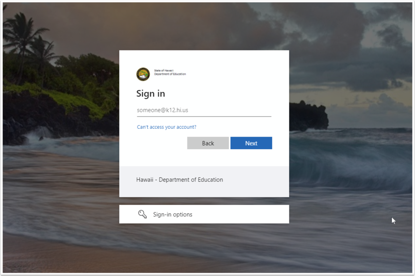 Sign in to your account - Google Chrome