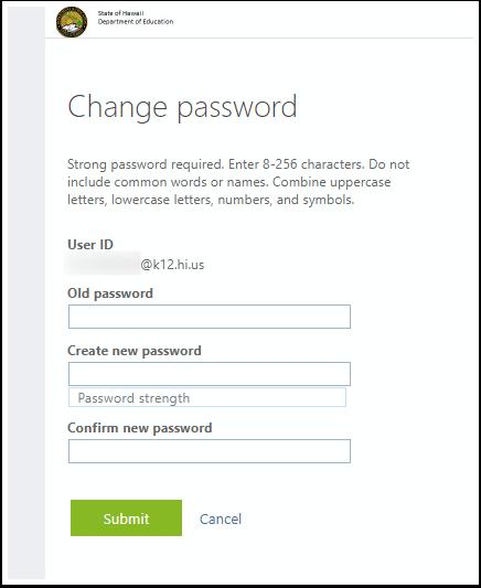 Change password - Google Chrome