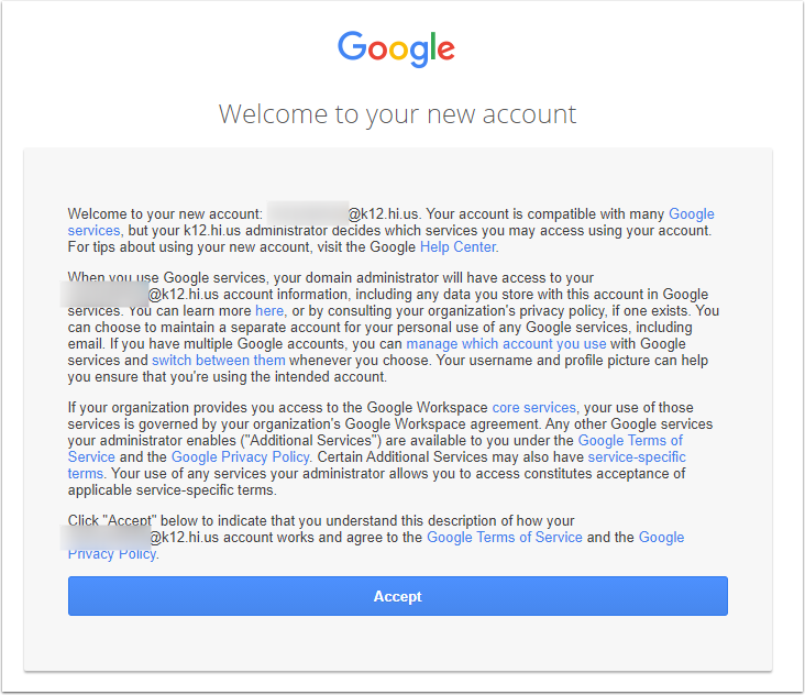 Google Accounts - Google Chrome