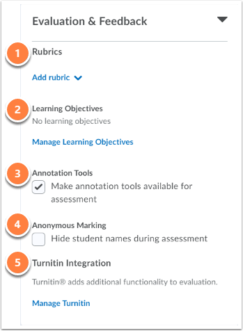 Evaluation and Feedback seetings
