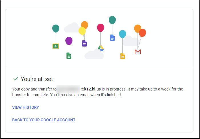 Transfer your content - Google Chrome