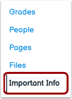 Open Important Info