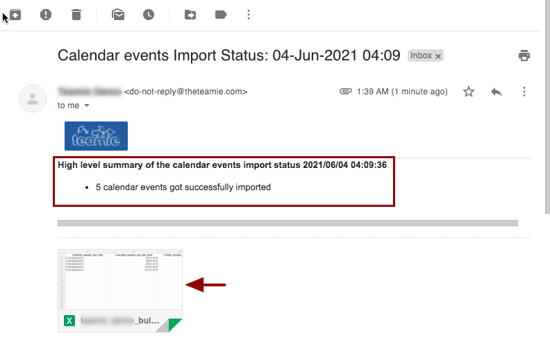 Calendar events Import Status: 04-Jun-2021 04:09 - nikhil@theteamie.com - Teamie Pte Ltd Mail