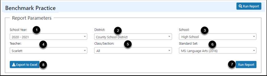Select Report Parameters