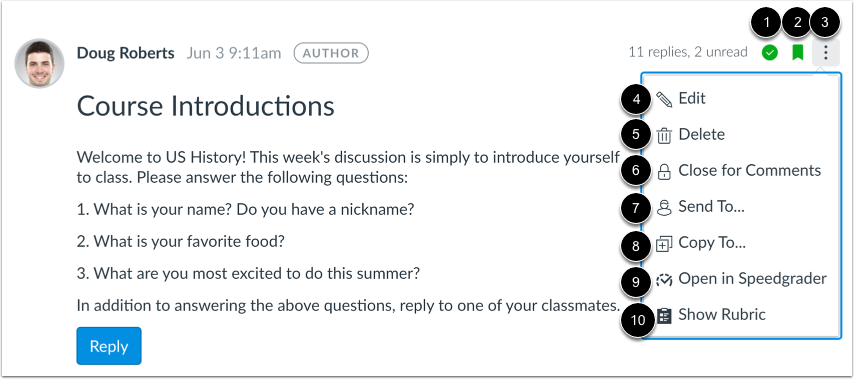 View Discussion Options