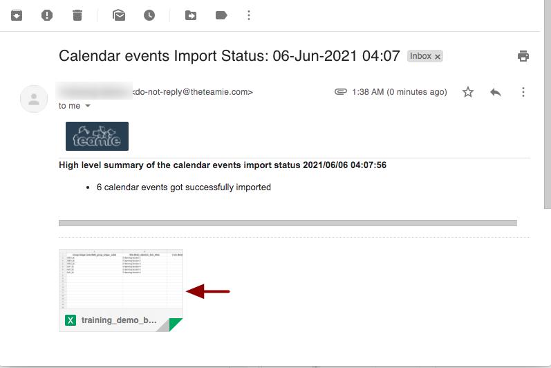 Calendar events Import Status: 06-Jun-2021 04:07 - nikhil@theteamie.com - Teamie Pte Ltd Mail