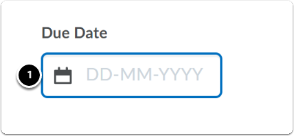 Due date box