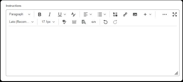 Instructions - Editor