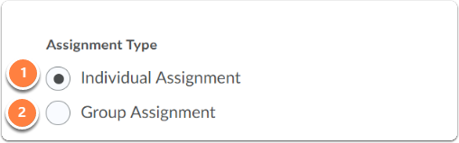 Assignment settings - Submission type