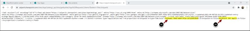 https://calperit.sharepoint.com/sites/AppCatalog/_api/lists/getbytitle('App Requests')/items?$select=Title,UniqueId - Google Chrome