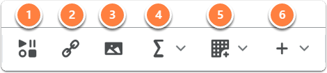 media icons tool bar