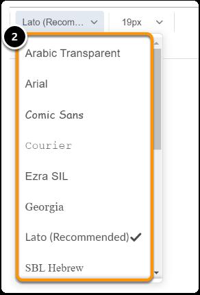 select a font