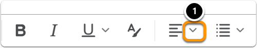 Click on the downward arrow next to the Bullets icon