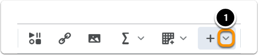 Click on the downward arrownext to the plus sign