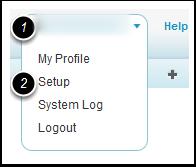 Navigate to the system setup