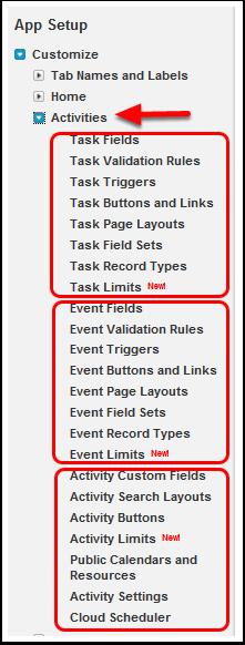 Activites ~ Events, Tasks, Calendars