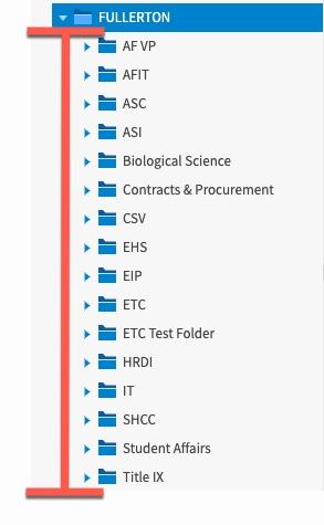 Highlight of department list