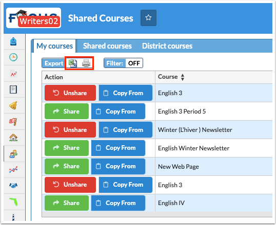 Shared Courses