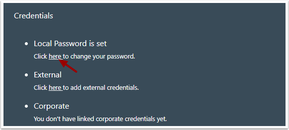 Edit Your Password