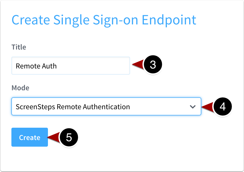 Create the endpoint
