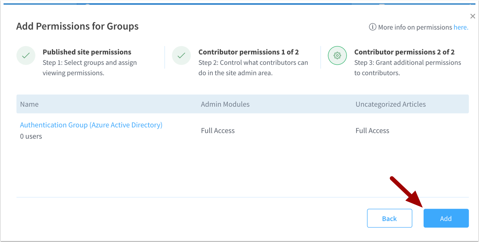 Groups | Permissions | Academy | ScreenSteps