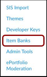 Open Item Banks