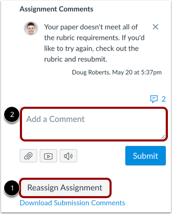View Reassign Assignment