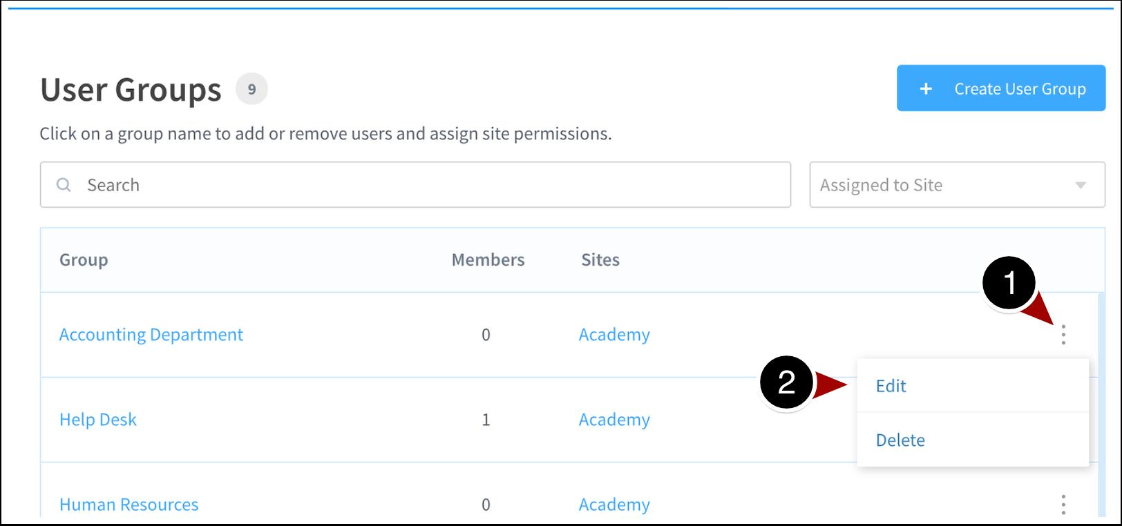 User Groups | ScreenSteps