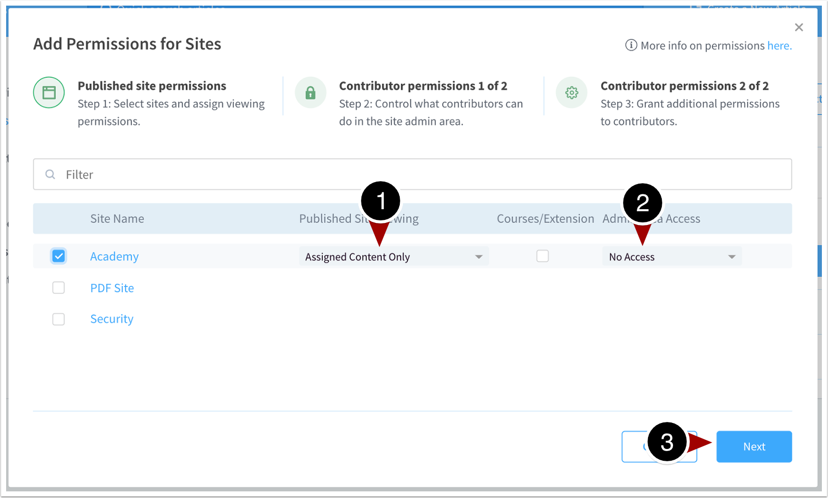 Site Permissions | Accounting Department | User Groups | ScreenSteps