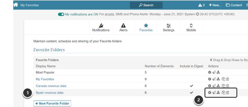 Example of New Favorites Folder in Favorites Editor