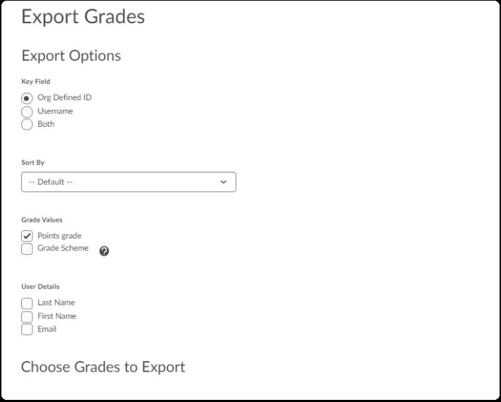 Export Grades