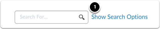 Show Search Options