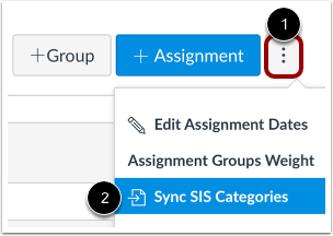 Open Sync to SIS Categories