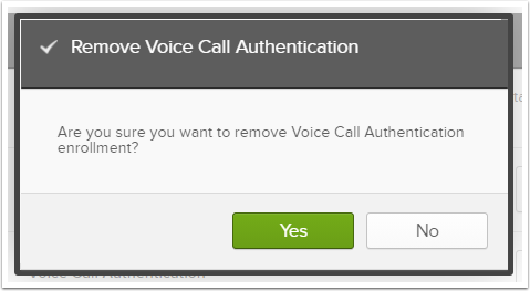 Remove Voice Call Authentication notification