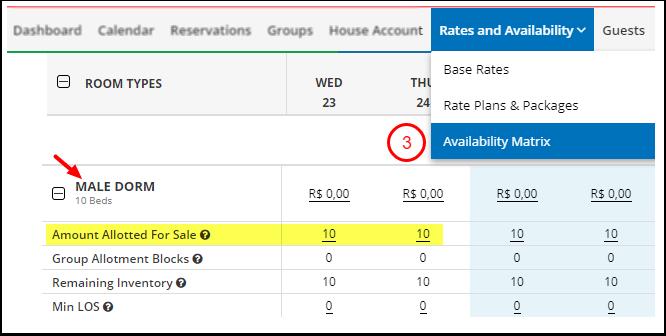 DEMO - Karina's Hostel - Availability Matrix - Google Chrome
