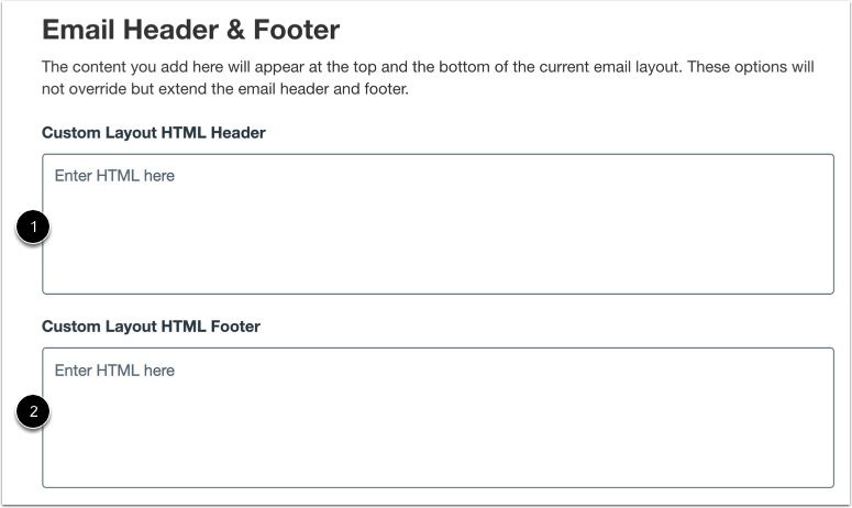 Add Custom Email Header and Footer