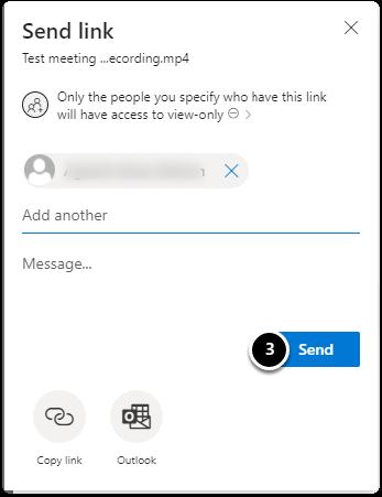 Send link | Click on send link