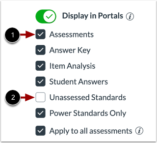 View Display in Portal Defaults
