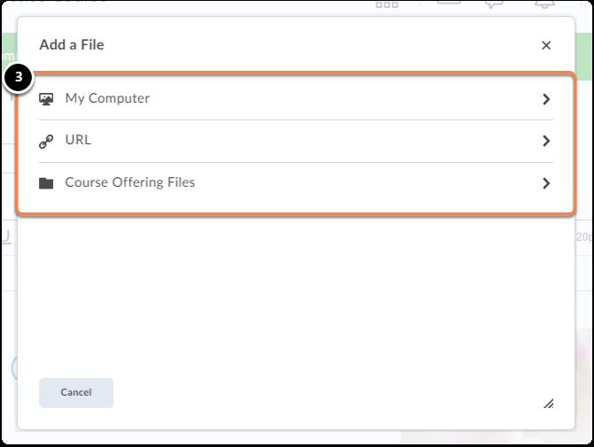 Add a File pop-up window