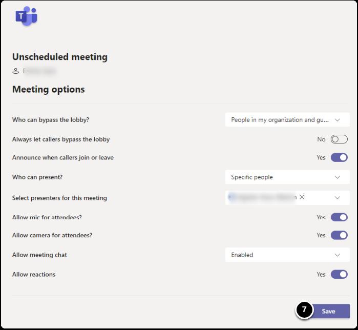 Meeting Options Summary