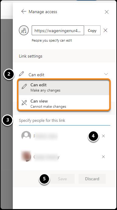 Manage access three dots