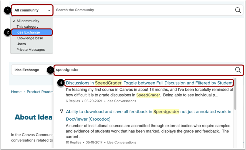 Search Existing Feature Ideas