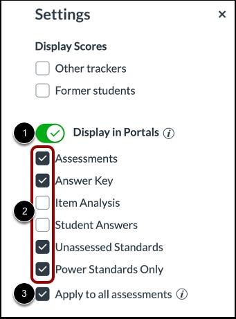 Adjust Portal Display Settings