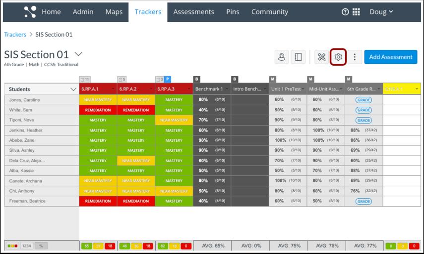 Open Tracker Settings